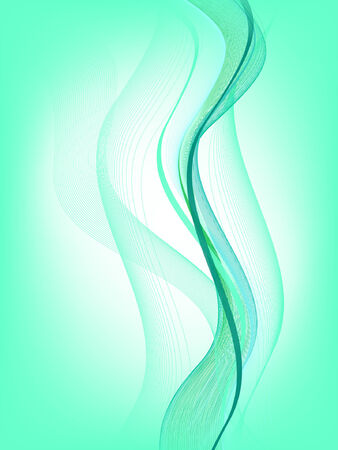 stream  wave: abstract background, vector, mesh gradient Illustration