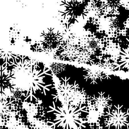 dripped: christmas background, vector halftone effect,  without gradient