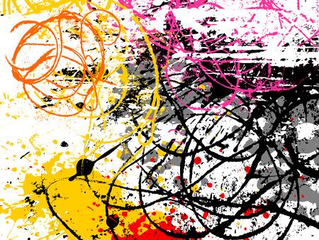 abstrakcje: wektor tle strony wyciągnąć grunge elementów