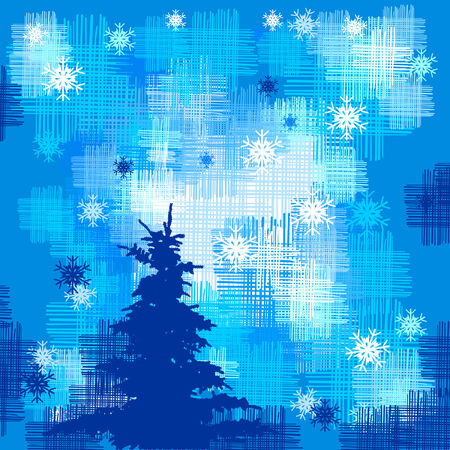 christmas tree with snowflakes Vector