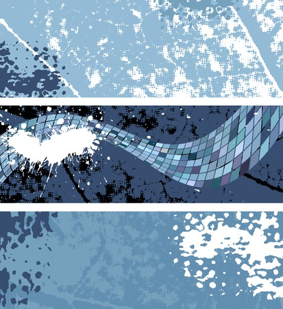 blue print: set of abstract banners, vector  Illustration