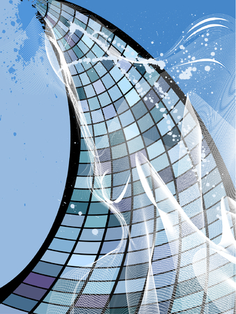 business building in the sky, vector  without gradient Vector