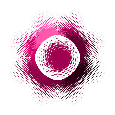 abstract  button, vector halftone effect Stock Vector - 4648777