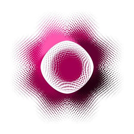 streszczenie przycisku wektora halftone efekt
