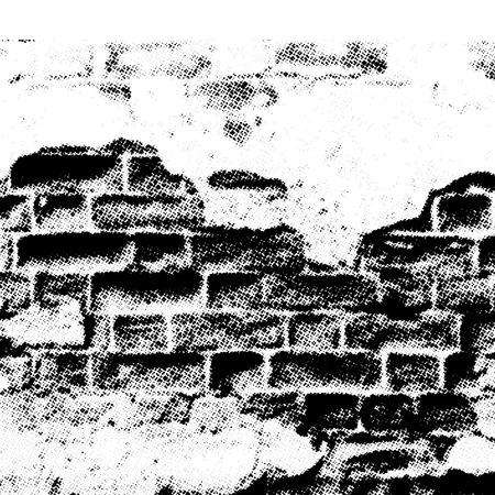 mur grunge: grunge mur en demi-effet, les vecteurs sans gradient