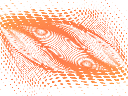 lines retro-style background in halftone frame, vector Vector
