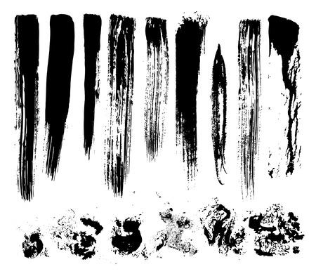 """pinsel: k�nstlerischen Effekt """"trockenen Pinsel"""", Vektor Illustration"""