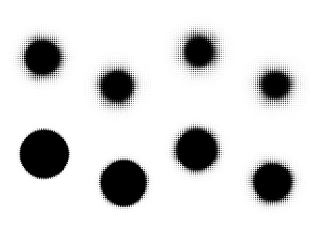 hardness: set of circles brushes with different hardness