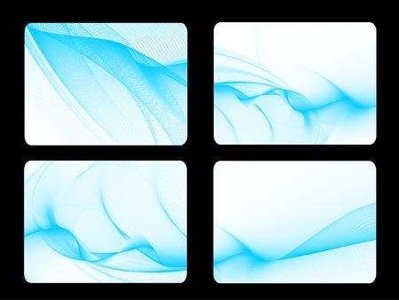 d�tente: s�rie de quatre mod�les de cartes d'affaires, sans vecteur gradient