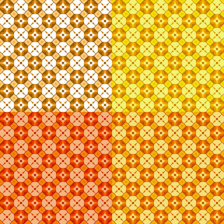 set of four seamless patterns, vector, geometric  ornament Vector