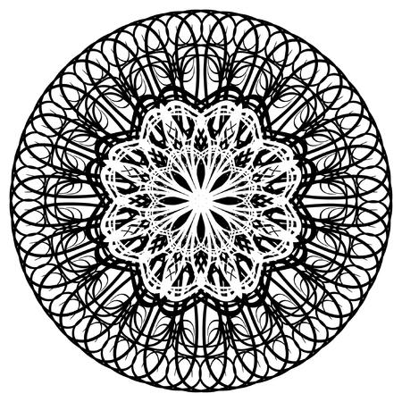 vector, geometric  ornament, rosette Vector