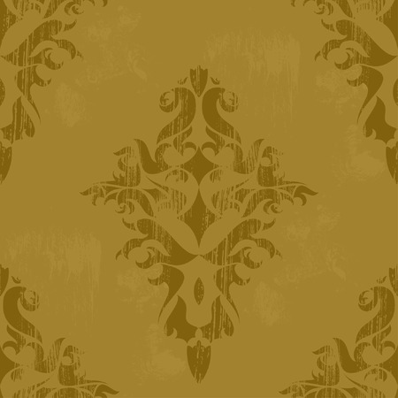 Vintage damask wallpaper , vector seamless pattern Stock Vector - 5183629