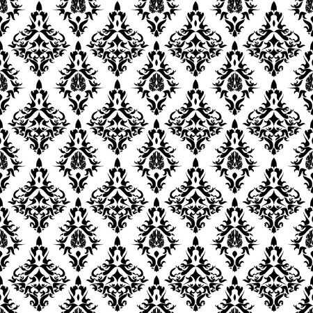 luxe: Vintage damask wallpaper , vector seamless pattern