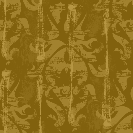 Vintage damask wallpaper , vector seamless pattern Vector
