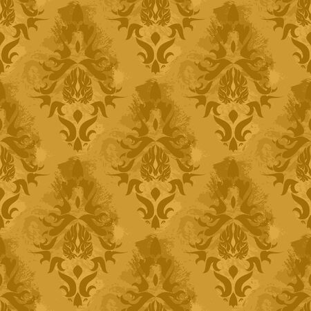 Vintage damask wallpaper , vector seamless pattern Stock Vector - 5183630