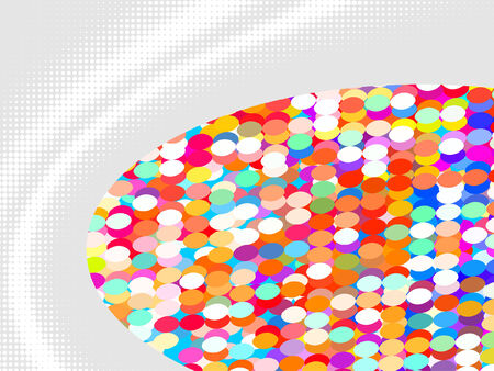 colorful abstract background from mosaic tiles, vector without gradient Vector