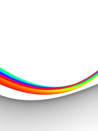 colorful 3ds lines, vector background with copy-space Stock Illustratie