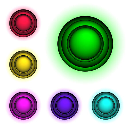 High detailed 3d buttons for web design, vector Vector
