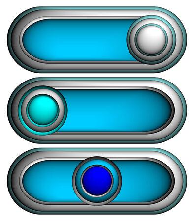 3d buttons, vector Vector