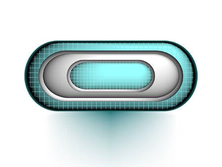 High detailed 3d button for web design, vector Vector