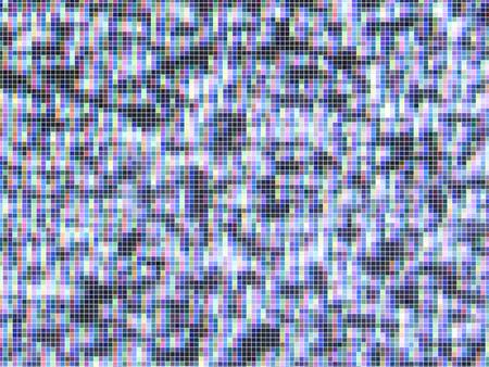 vector tv-scherm, verloren signaal, ruis, gemaakt van mozaïektegels