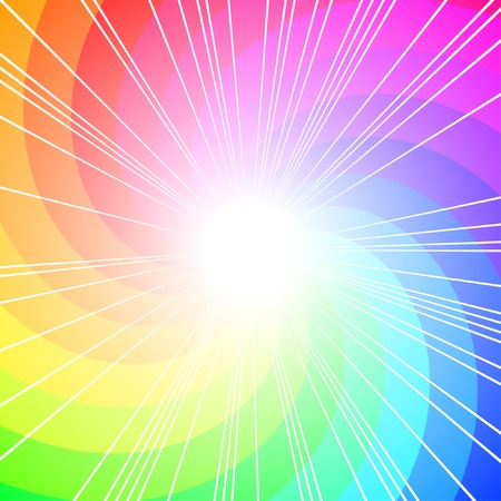 rainbow abstract: colorful curl, vector background with copy-space