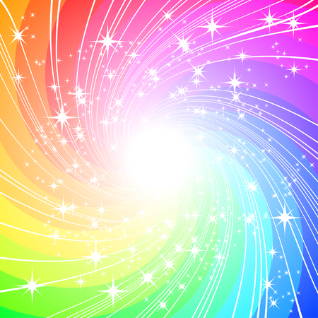star path: colorful vector background  Illustration