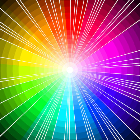 spectrum circles, vector background with copy-space Vector