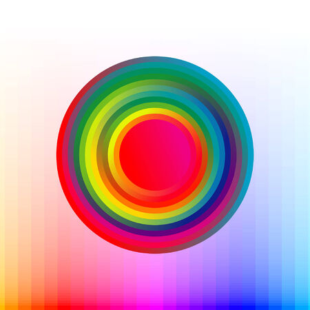 colorful button, blur effect Stock Vector - 5691546