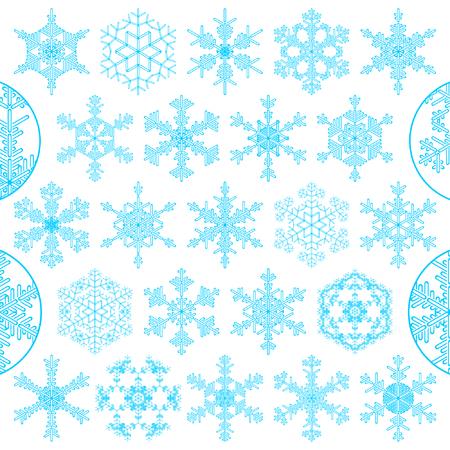 set of decorative snowflakes Stock Vector - 5692920