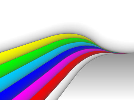 flow of colors: colorful 3ds lines, vector background with copy-space Illustration