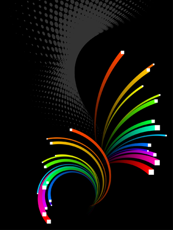 abstract background, colorful 3d stripes Vector