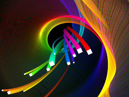 abstract background, colorful 3d stripes