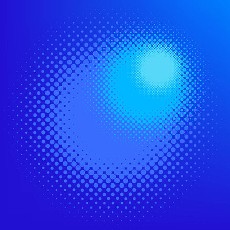 halftone effect, vector without gradient, place for text Stock Illustratie