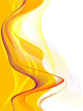 抽象的な背景、ベクター、様式化された波、テキストのための場所
