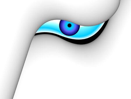 communications technology: ojo de 3D, el concepto de mundo digital, vector