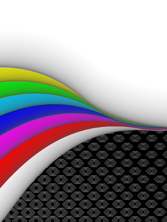 3ds: colorful 3ds lines, vector background with copy-space Illustration