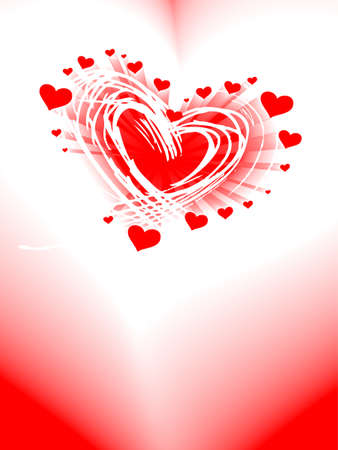 valentine's day card, vector, romantic heart with copy space Stock Vector - 6381460