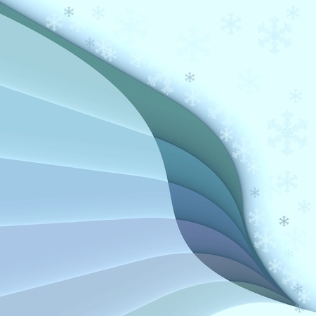 winter background with  snowflakes, vector  Vector
