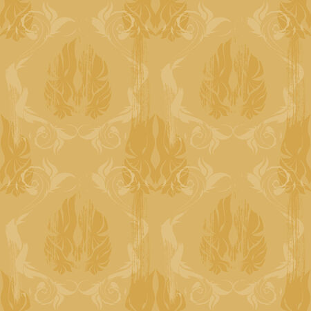Vintage damask wallpaper , vector seamless pattern Vector