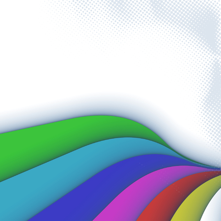 3ds: colorful 3ds lines, vector  Illustration