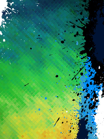 flow of colors: abstract  grunge  background Illustration