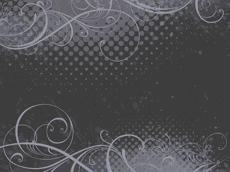 gray flower: floral background, EPS 10, vector, floral style Illustration