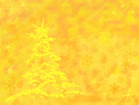 christmas tree on beautiful background with snowflakes,   Vector