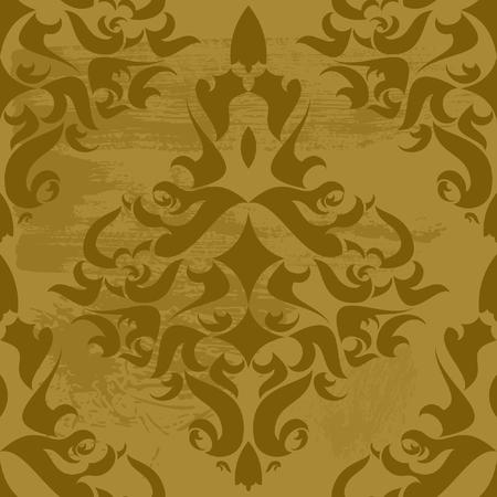 Vintage damask wallpaper Stock Vector - 8213554