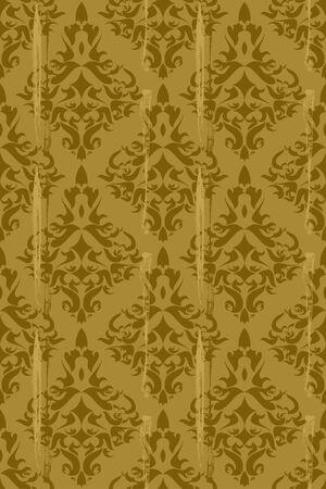 Vintage damask wallpaper ,  seamless pattern Vector