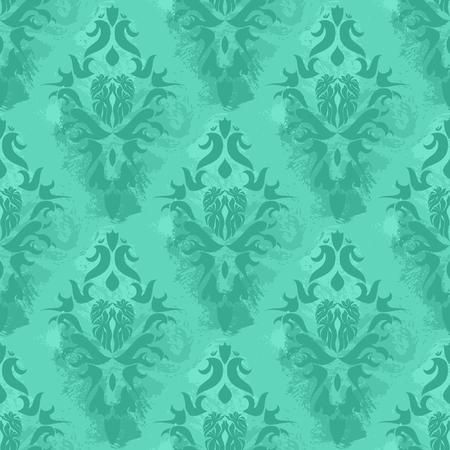 Papel tapiz de la cosecha de Damasco, patrón transparente