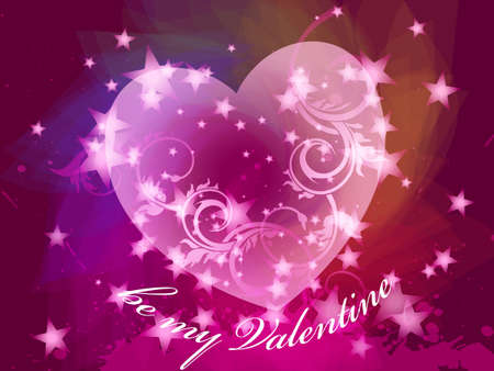 valentine's day card, vector, EPS 10 Stock Vector - 8566659