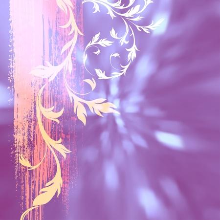 lens brush: floral grunge background, eps10, vector, include mesh gradient Illustration