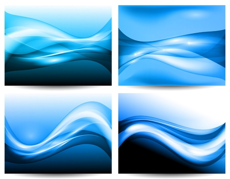 vector 3d waves, EPS10 with transparency and mesh